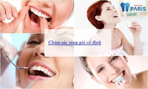 chăm sóc răng giả cố định 23