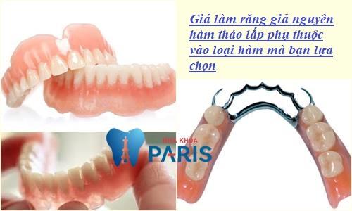 giá làm răng giả nguyên hàm tháo lắp