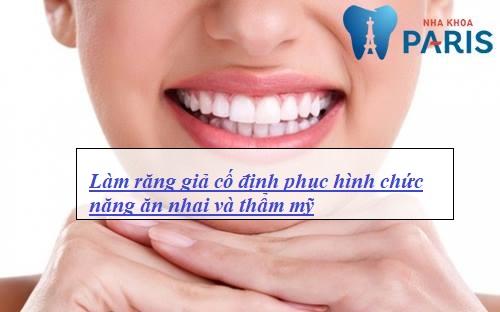làm răng giả cố định phục hình răng